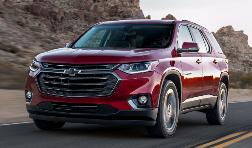 2020 Chevy Traverse RS design